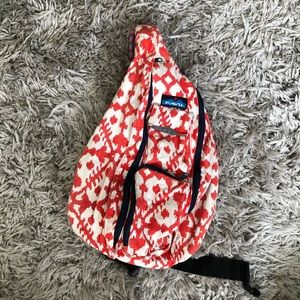 KAVU ikat rope sling backpack red chevron outdoor